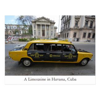 A Limousine Car in Havana (Habana) Cuba Postcard