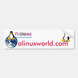 a linux world bumper sticker
