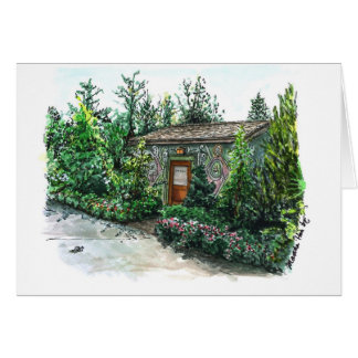 A little Decorated cottage Greeting Card