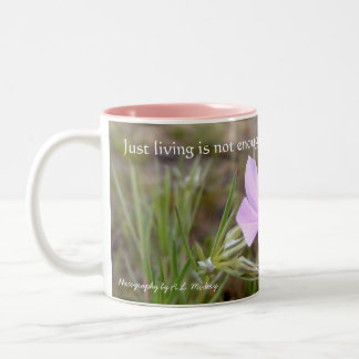 A Little Flower (wildflower) Two-Tone Coffee Mug