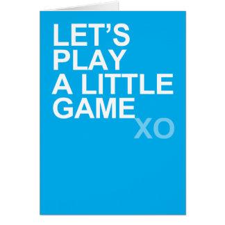 A Little Game (xo) Card