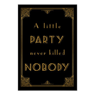 a little party gatsby inspired wedding sign