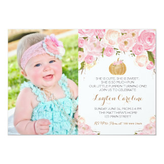 A little Pumpkin Birthday invitation Card
