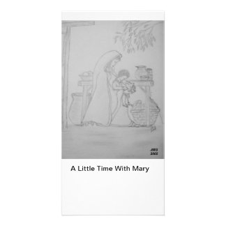 A Little Time With Mary Personalised Photo Card