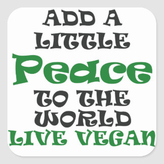 A Little Vegan Peace Stickers