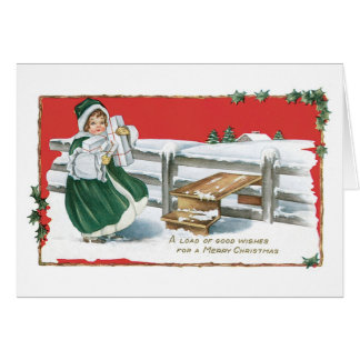 A Load of Good Wishes for a Merry Christmas Greeting Card