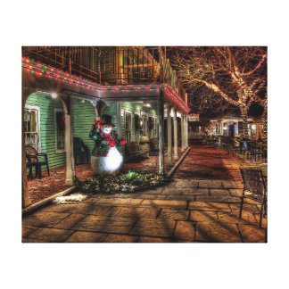 A lone snowman gallery wrapped canvas