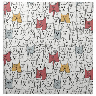 A lot of funny cats napkin