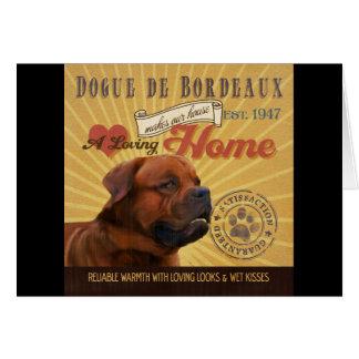 A Loving Dogue de Bordeaux Makes Our House Home Card