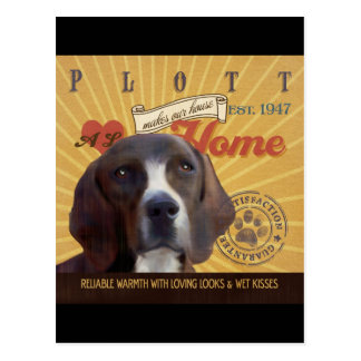 A Loving Plott Makes Our House Home Postcard