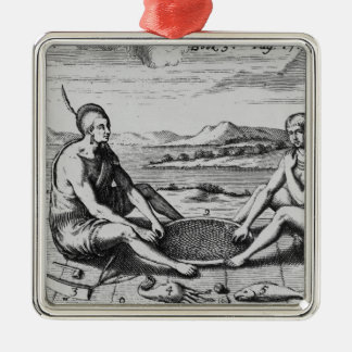 A Man And His Wife At Dinner, 1705 Christmas Ornament
