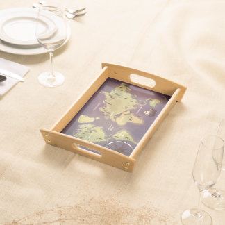A Map Of the world.  Cartoon World Map of Nations. Serving Tray