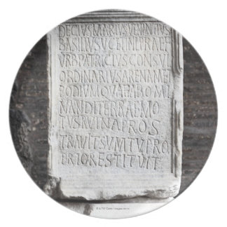 A marble Tablet from inside  The Colosseum or Plate
