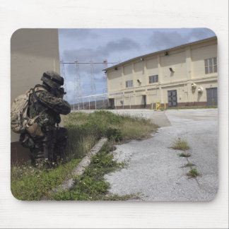 A Marine posts security Mouse Pad