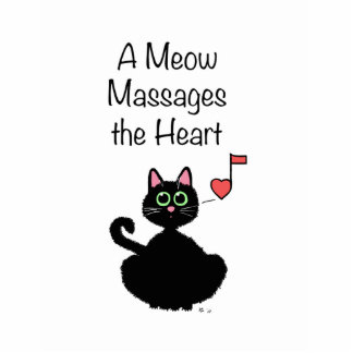 A Meow Massages the Heart Photo Cutout