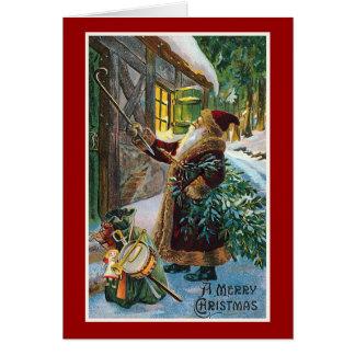 """A Merry Christmas"" Vintage Christmas Card"