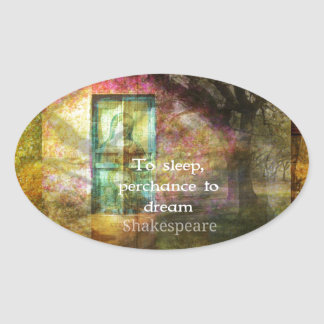 A Midsummer Night's Dream Quote By Shakespeare Oval Sticker