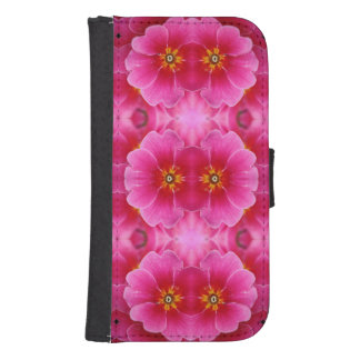 A modern abstract pink yellow orchids pattern. samsung s4 wallet case