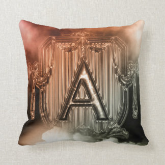 'A' Monogram Throw Pillow