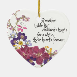 A Mother holds a child's heart Christmas Ornament