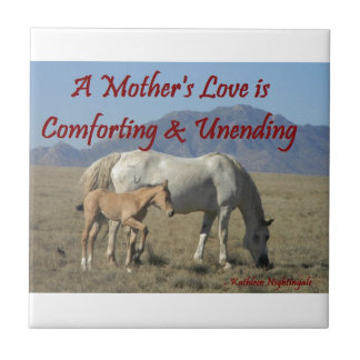 A Mother's Love Small Square Tile