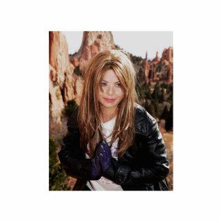 A Movie Actress Laura Guillen Item Standing Photo Sculpture