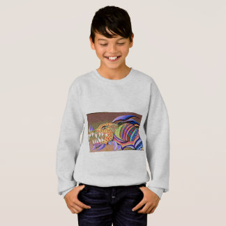 A multicolored, Fire-Breathing Dragon Motif. Sweatshirt