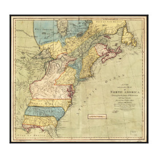 A new and accurate map of North America (1771) Canvas Print