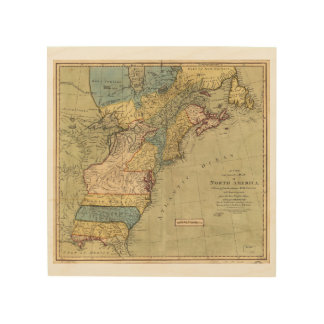 A new and accurate map of North America (1771) Wood Print