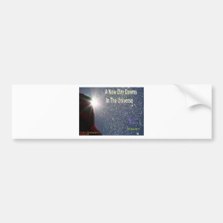 A New Day Dawns On The Universe (Logo For RAELOR) Bumper Stickers