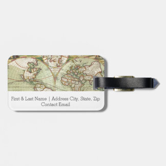 A new mapp of the world - Atlas Luggage Tag