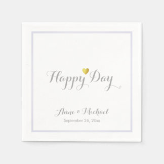 a nice happy-day wedding reception party disposable napkin
