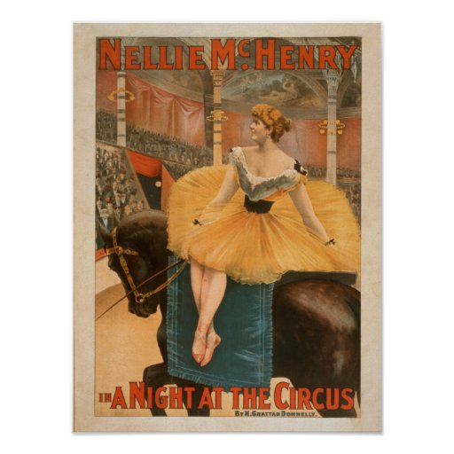 A Night at the Circus Theatrical Play Poster
