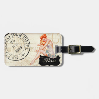 A Night in Paris luggage tag