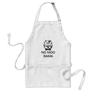 "A ""NO MOO BAMA"" Kitchen Apron"