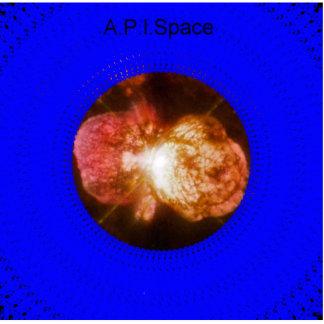 A.P.I.Space Logo Sculpture Standing Photo Sculpture