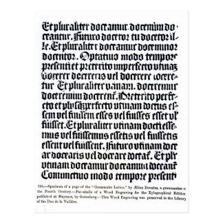 A page of the Grammaire Latine Post Cards
