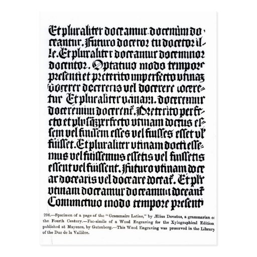 A page of the 'Grammaire Latine' Post Cards