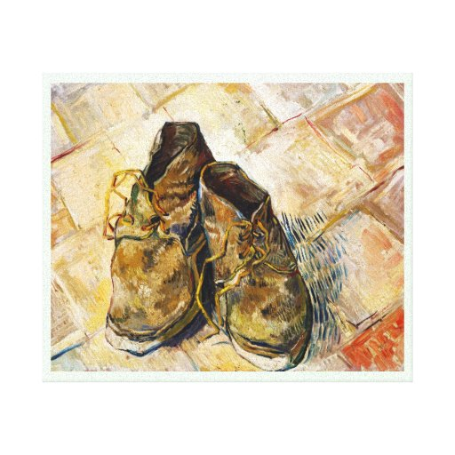 A Pair of Shoes Vincent van Gogh fine art painting Gallery Wrapped Canvas