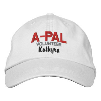 A-PAL Red, White and Black Volunteer Embroidered Hats