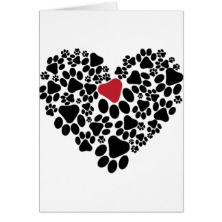 A paw touched my heart V2 Greeting Card
