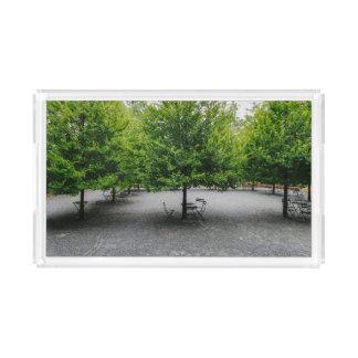 A Peaceful Garden Acrylic Tray