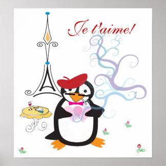 A Penguin in Paris Print