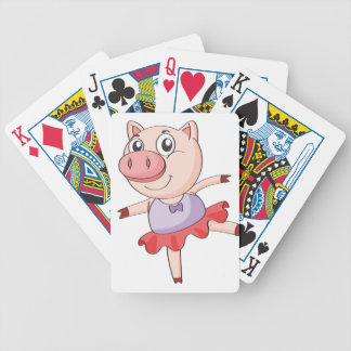 a pig bicycle playing cards