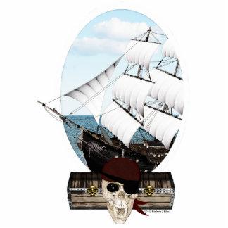 A Pirate Ship Photo Sculpture Badge