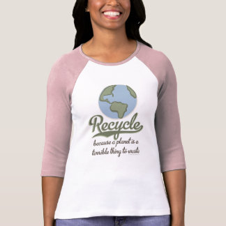 A Planet Is A Terrible Thing To Waste Raglan Tee