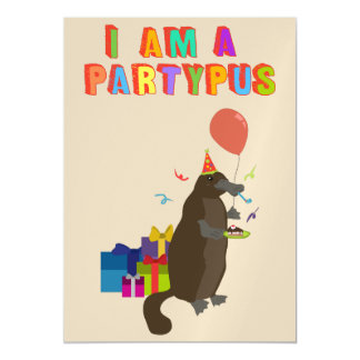 A platypus who loves to party magnetic card