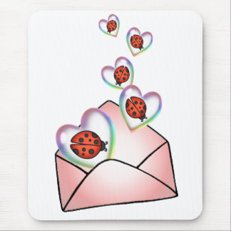 A POCKET FULL of HEARTY LOVE BUGS by SHARON SHARPE Mouse Pad