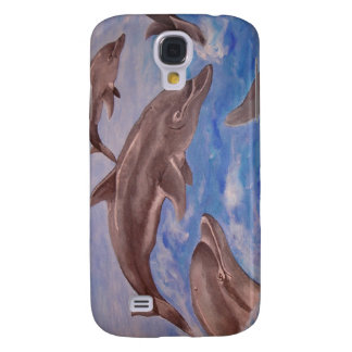 A Pod of Playful Jumping Dolphins Galaxy S4 Case
