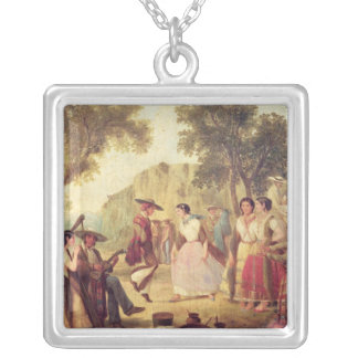 A Popular Dance Silver Plated Necklace